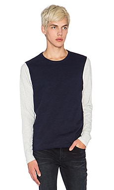 Scotch & Soda Home Alone Long Sleeve Tee in Navy