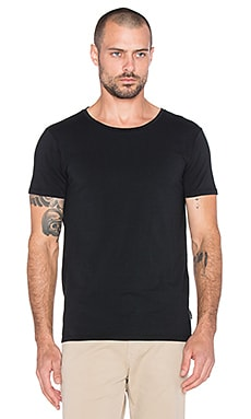 Scotch & Soda Classic Cotton Lycra Crewneck Tee in Black