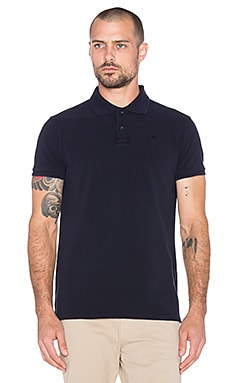 Scotch & Soda Classic Garment Dyed Pique Polo in Night