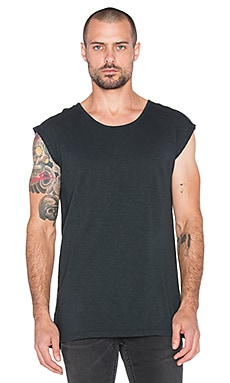 Scotch & Soda Slub Jersey Singlet Top in Antra