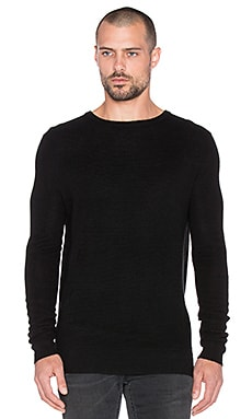 Scotch & Soda Crewneck Rib Knit Pullover in Black