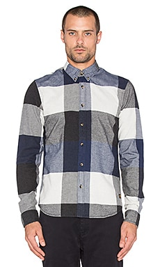 Scotch & Soda Big Check Longsleeve Shirt in Blue Black
