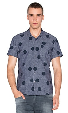 Scotch & Soda Short Sleeve Allover Print in Navy