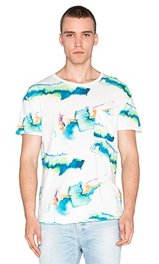 Scotch & Soda Printed 1 Pocket Tee in Multi