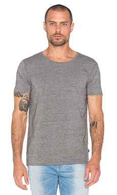 Scotch & Soda Classic Crewneck Tee in Charcoal Melange
