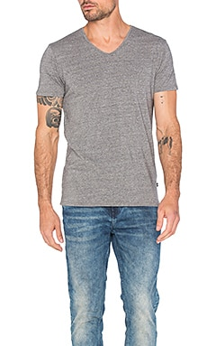 Scotch & Soda Classic V Neck Tee in Charcoal Melange
