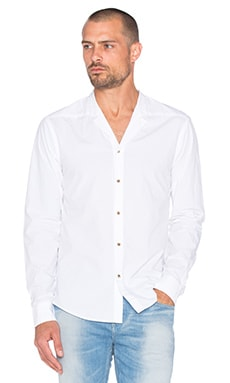 Scotch & Soda Kimono Inspired Shirt in Denim White