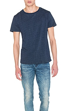 Scotch & Soda Indigo Tee in Indigo Melange