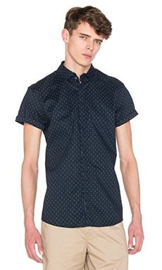 Scotch & Soda Shortsleeve Dress Shirt in Black