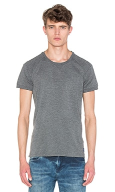 Scotch & Soda Sportwear Tee with Mesh Details in Graphite Melange