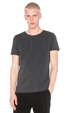 Scotch & Soda Round Neck Tee in Black