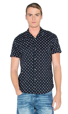 Scotch & Soda All Over Printed Shirt in Black