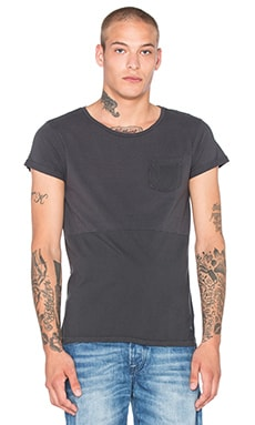 Scotch & Soda Cold Dyed Cut & Sewn Tee in Antra