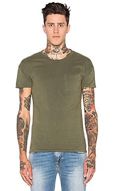 Scotch & Soda Rocker Tee in Olive