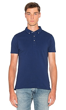 Scotch & Soda Dress Polo in Indigo