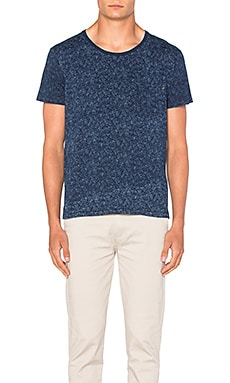 Scotch & Soda Indigo Print Tee in Dessin