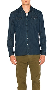 Scotch & Soda Denim Western Shirt in Indigo