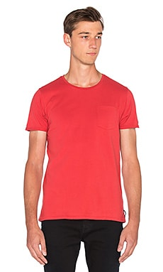 Scotch & Soda Pocket Tee in Rooster Red