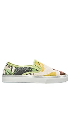 Scotch & Soda Summer Slip-Ons in White Multi