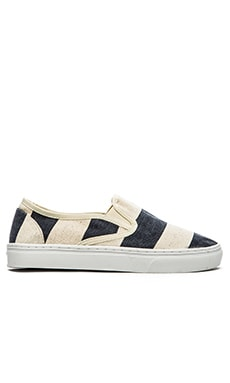 Scotch & Soda Summer Slip-Ons in Navy White
