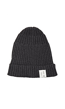 Rib Knitted Beanie in Grey