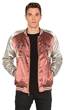 Standard Issue Tiger Bomber in Rose & Grey