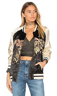 Standard Issue Phoenix Bomber in Black & Gold