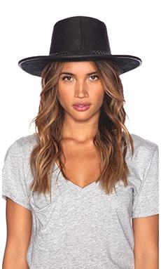 STELA 9 Ranchero Braided Hat in Black