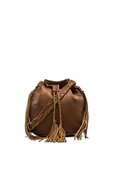 STELA 9 Quixote Small Bucket Bag in Camel Camello