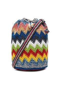 STELA 9 Crochet Bucket Bag in Cheveron Multi