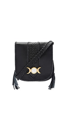 Isa Saddle Bag en Noir & Bronze