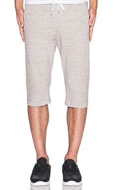Stampd Dropped French Terry Short in Heather Grey
