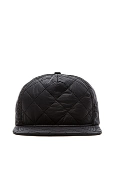 Stampd Quilted Bomber Hat in Black