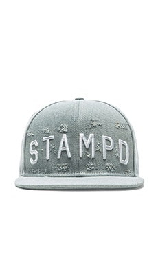 Stampd Distressed Stampd Hat in Light Indigo