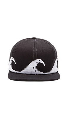 Stampd Pixel Wave Hat in Black