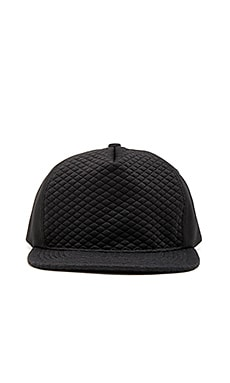 Stampd Black Diamond Quilted Hat in Black