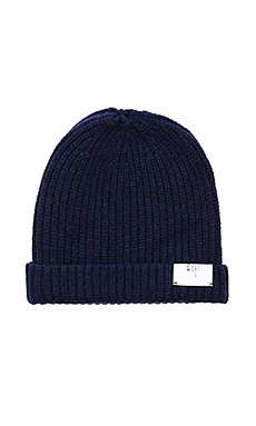 Stampd Wool Dawn Beanie in Navy