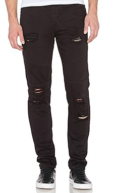 Distressed Panel Denim