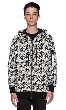 Stampd Flight Hoodie in Palm Jacquard