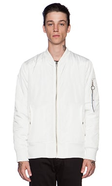 Stampd Flight Bomber Jacket in White