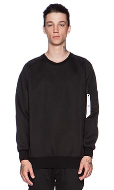 Stampd Neoprene Flight Crewneck in Black