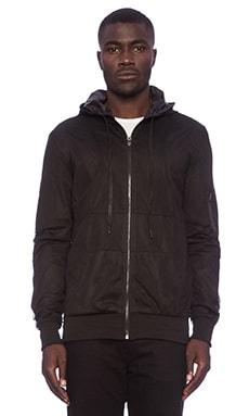 Stampd Mesh Nylon Zip Up in Black