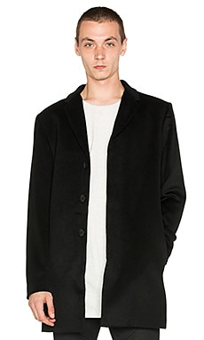 Stampd Officer's Coat in Black