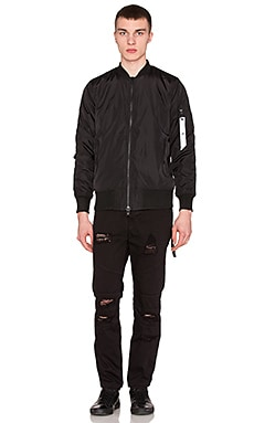 Stampd Strapped Bomber Jacket in Black