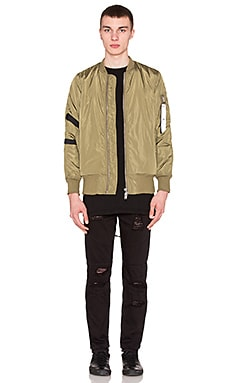 Stampd Strapped Bomber Jacket in Fatigue Olive