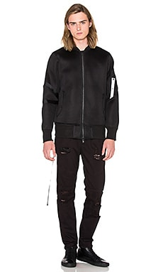 Stampd Mesh Strapped Bomber in Black