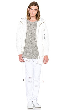 Stampd Double Layer Bomber in White
