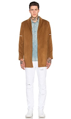 Stampd Spring Coat in Cognac