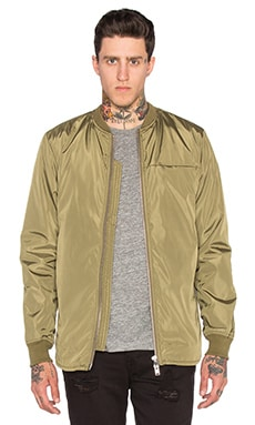 Stampd Scalloped Bomber in Olive