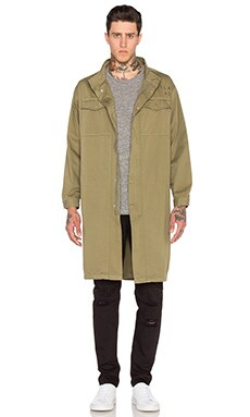 Elongated Military Parka